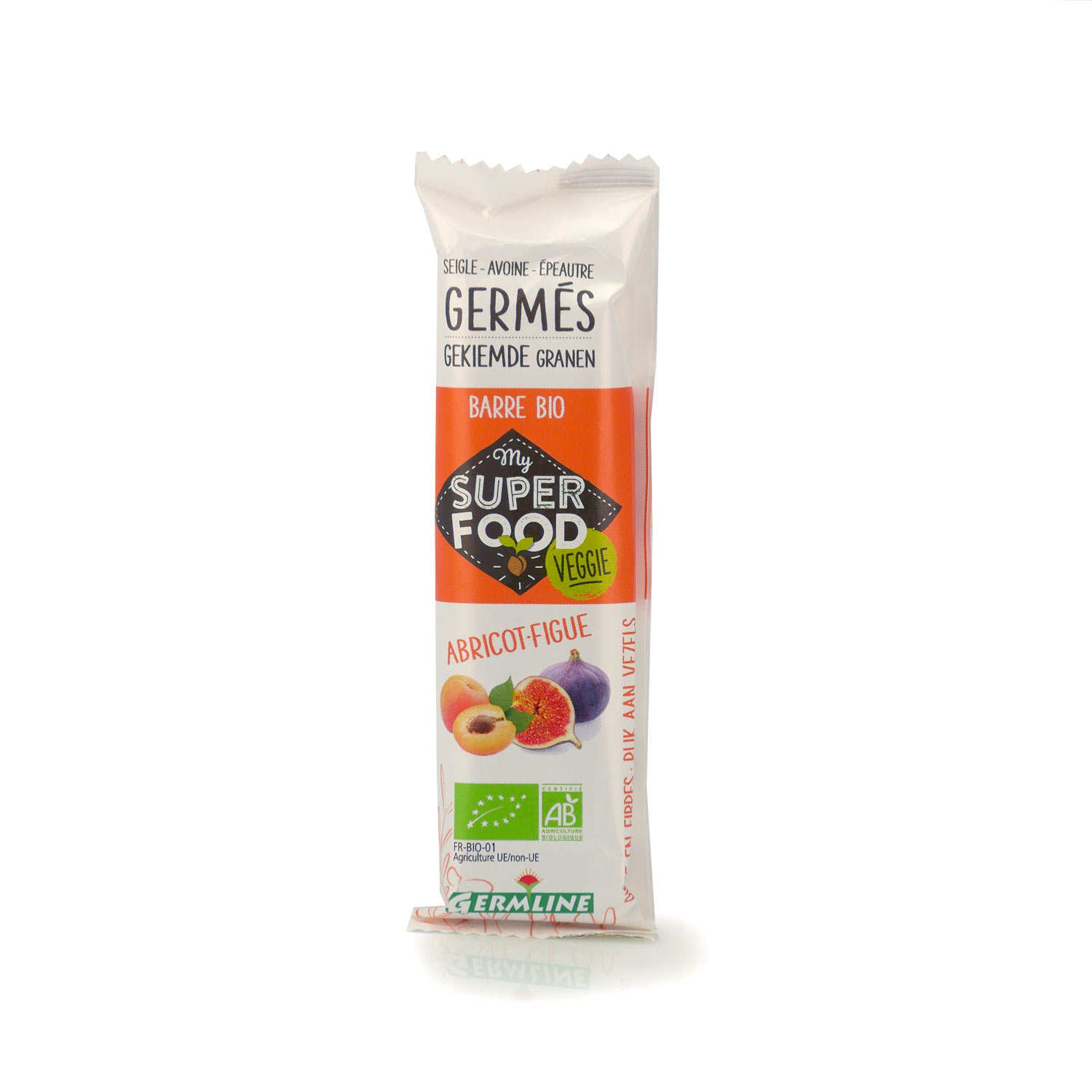 Organic Sprouted Cereals Bar Apricot and Fig