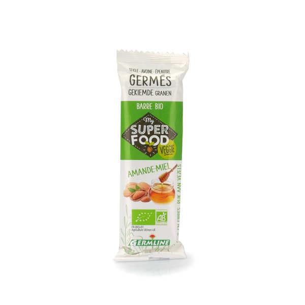 Barre de céréales germées bio amande et miel