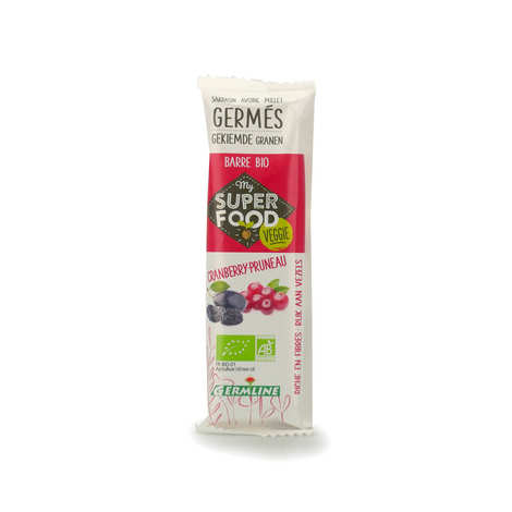 Germline - Barre de céréales germées bio et cranberry et pruneau