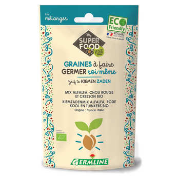 Germline - Organic Alfalfa, Watercress and Red Cabbage - Seeds To Sprout