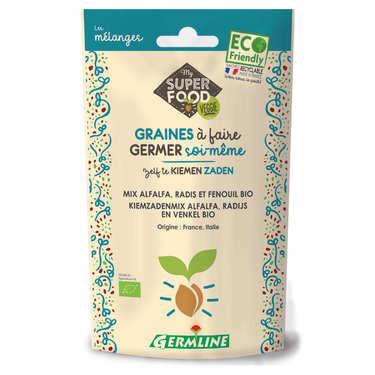 Alfalfa, radis et fenouil bio - Graines à germer