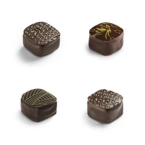 Michel Cluizel - Coffret 8 ganaches de plantation chocolat noir Michel Cluizel