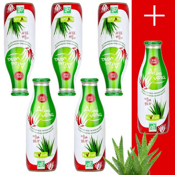 Pur jus d'Aloe Vera Bio en gel 5+1 offert