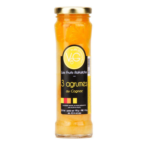 Citrus in Cognac Syrup
