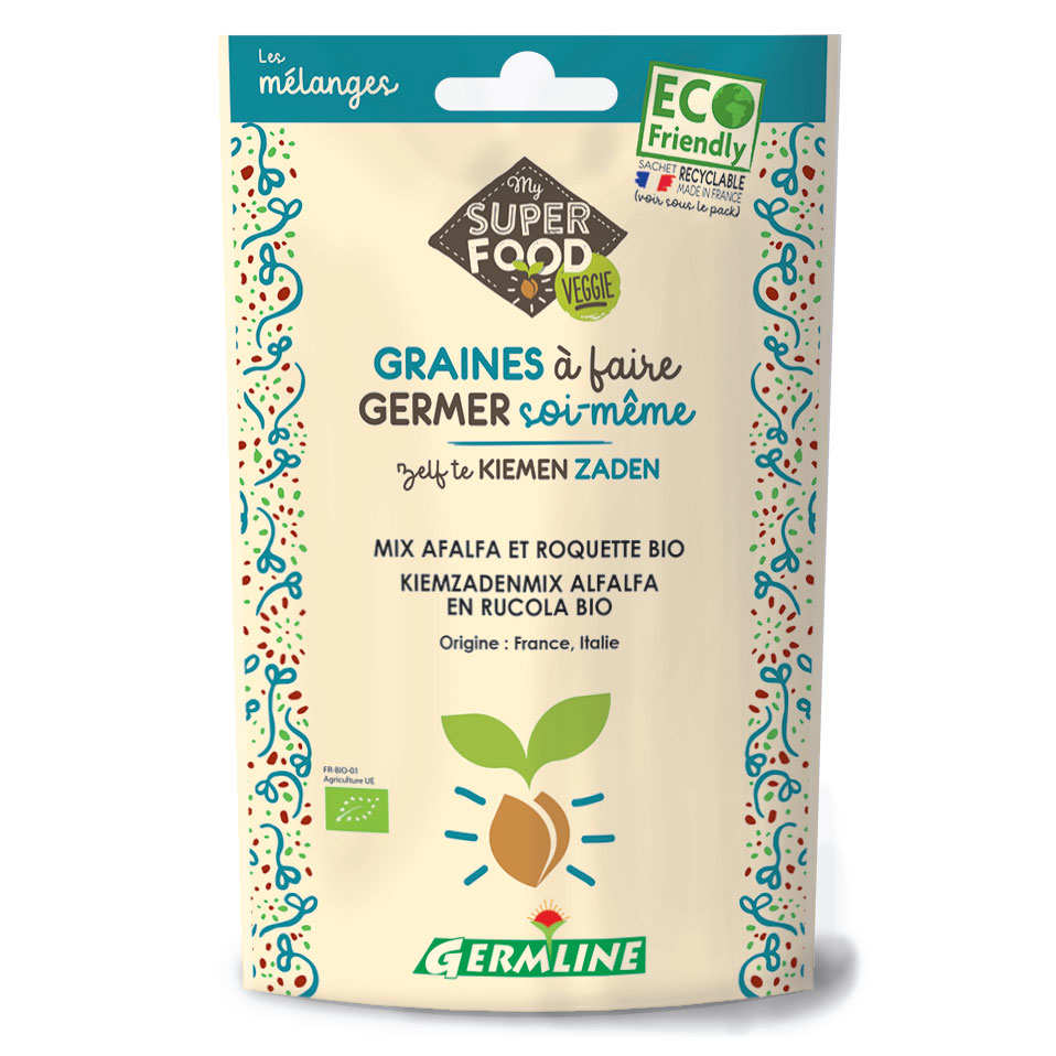 Organic Alfalfa, Rocket - Seeds To Sprout