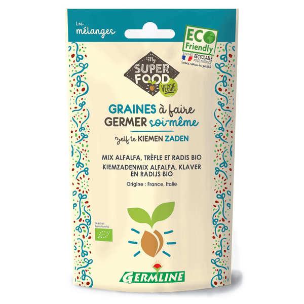 Alfalfa, trèfle et radis bio - Graines à germer