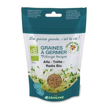 Germline - Alfalfa, trèfle et radis bio - Graines à germer