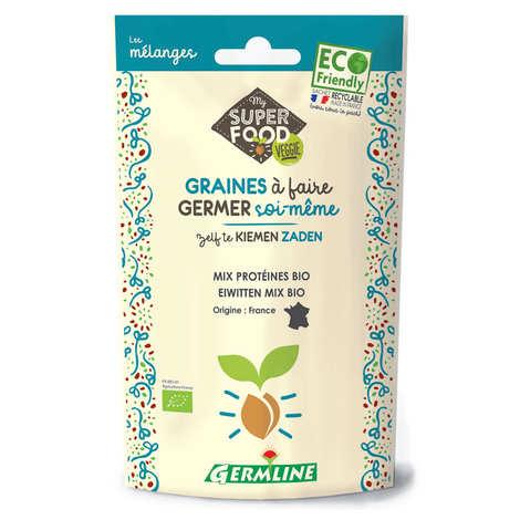 Germline - Mix protéines, pois chiches, lentille, fenugrec bio - Graines à germer
