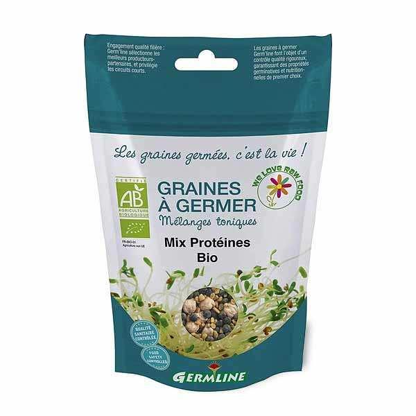 Mix protéines, pois chiches, lentille, fenugrec bio - Graines à germer