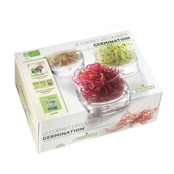 Coffret germination : germoir à graines + 3 sachets