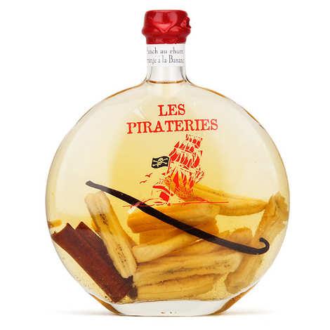 Liqueurs Fisselier - Punch au rhum arrangé à la banane 30% Pirateries