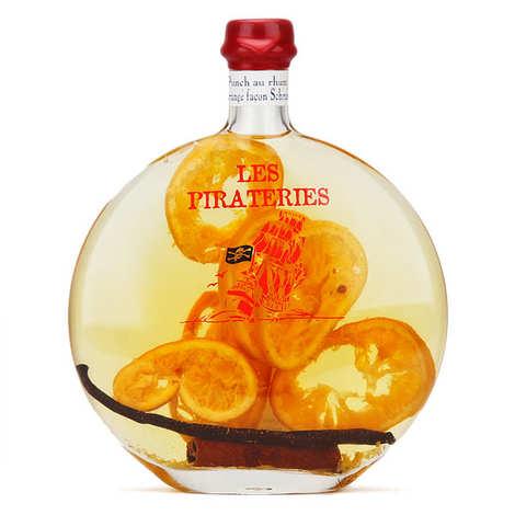 Liqueurs Fisselier - Punch au rhum arrangé schrub 30% - Pirateries