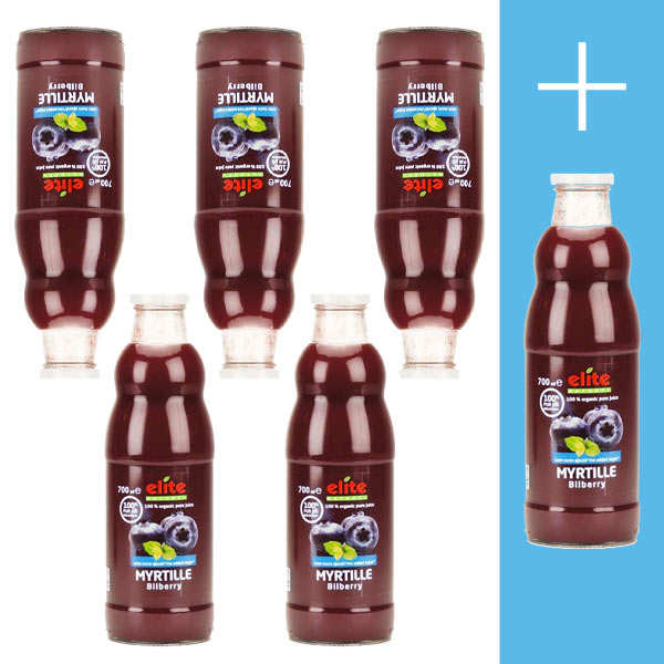 Pure organic blueberry juice 5 + 1 free