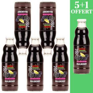 Elite Naturel - Pure organic black mulberry juice 5L+1 free