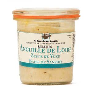 La Bourriche aux Appétits - Rillettes d'anguille au zeste de yuzu et baies de Sansho