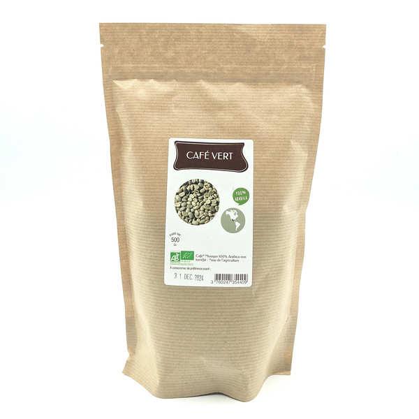 Café vert en grain bio