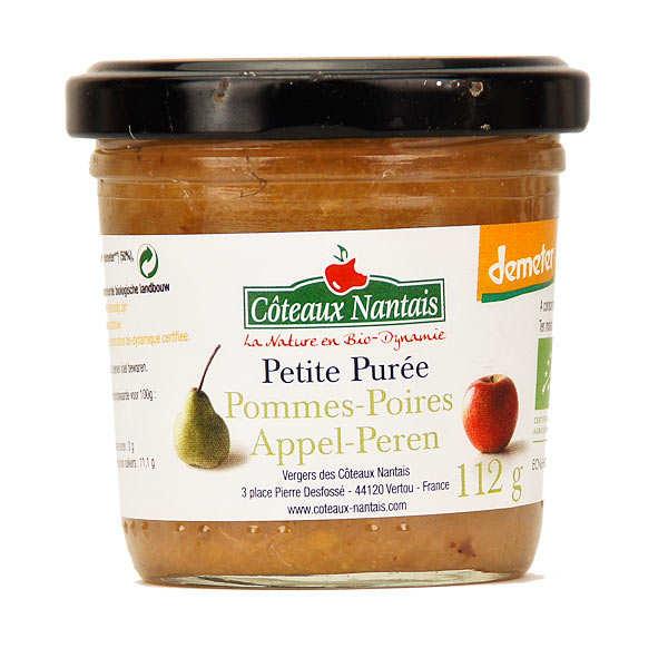 Purée de pommes poires bio