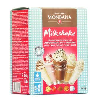 Monbana Chocolatier - Milkshake - Case 5 flavors