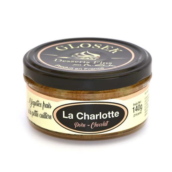 Charlotte poire chocolat à l'eau de vie de poire