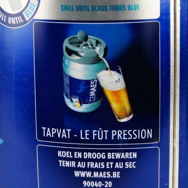 Maes Pils lager beer in barrel- 5,2%