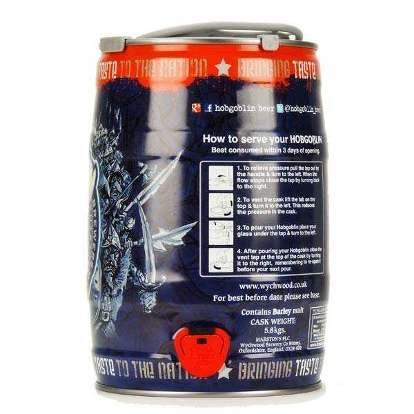 Bière Hobgoblin en fût - 5,2%