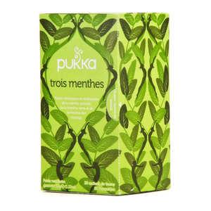 Pukka herbs - Infusion ayurvédique 3 menthes bio