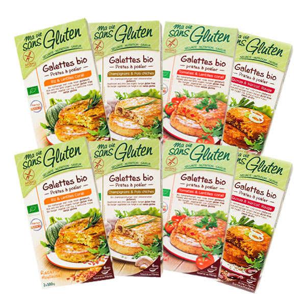 Mix patties ready to fry gluten-free bio