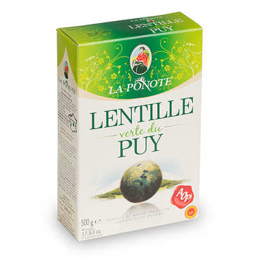 Green lentils from Le Puy, France