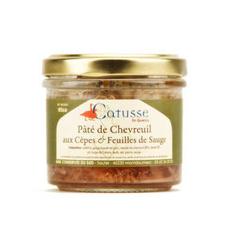 Michel Catusse - Paté of venison with mushrooms and sage leaves