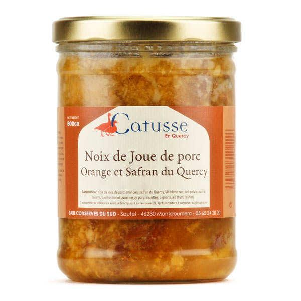 Noix de joue de porc, oranges et safran du Quercy