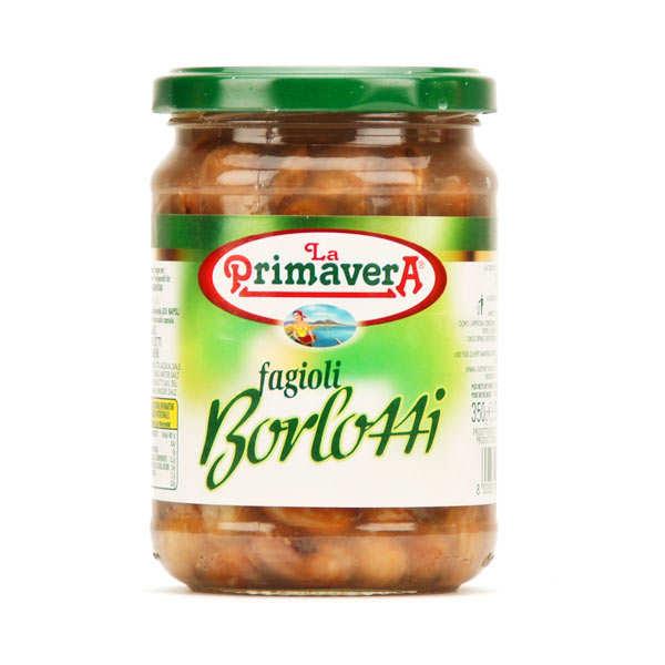 Haricots rouges cuits Borlotti