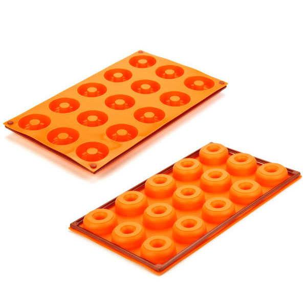Moule silicone 15 mini donuts