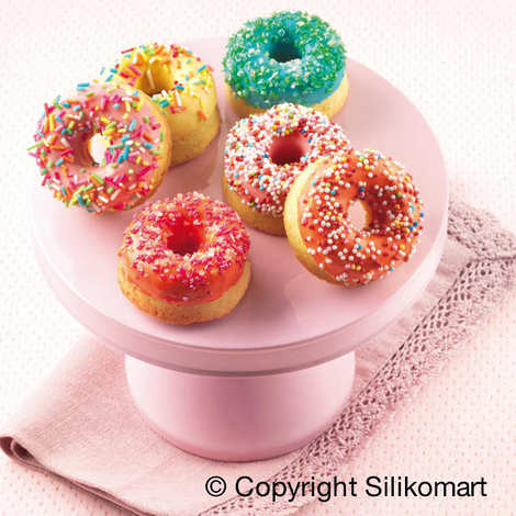 Silikomart - Moule silicone 15 mini donuts
