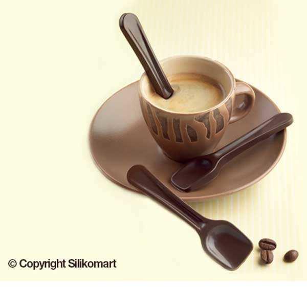 Moule silicone pour chocolat - cuillères en chocolat