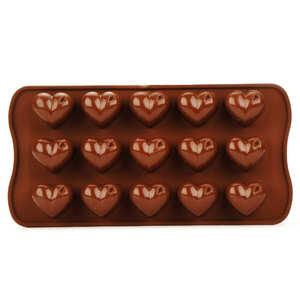 Silikomart - Moule silicone pour chocolat - coeurs