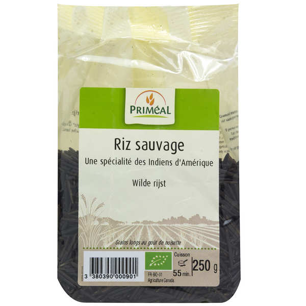 Organic black wild rice from Canada