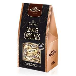 Revillon chocolatier - Christmas dark chocolate papillotes