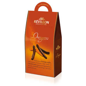 Revillon chocolatier - Candied Orange Pieces in Dark Chocolate