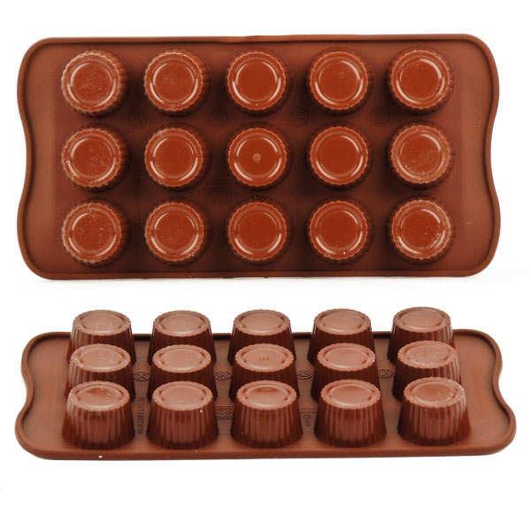 Moule silicone pour chocolat - pralinés - planche de 15 pralines