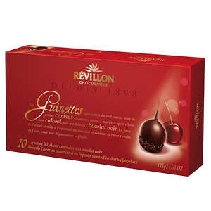 Revillon chocolatier - Cherries in Dark Chocolate with alcohol