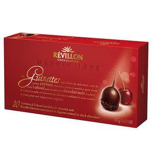 Revillon chocolatier - Les Guinettes - Griottes à l'alcool et chocolat