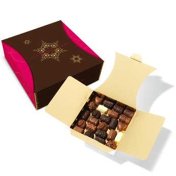 Revillon chocolatier - Ballotin de chocolat noir et lait