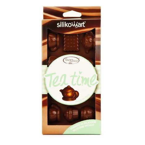 "Silikomart - Moule en silicone spécial chocolat ""teatime"""