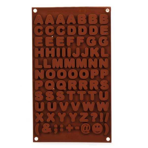 Moule en silicone spécial chocolat lettres et symboles - moule 115ml