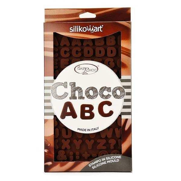"""Moule en silicone spécial chocolat """"lettres et symboles"""""""