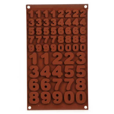 """Silikomart - Moule en silicone spécial chocolat """"chiffres et nombres"""""""