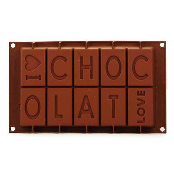 Moule en silicone spécial chocolat i love chocolat - moule 880ml