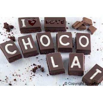 """Silikomart - Silicone Mold """"I love chocolat"""""""