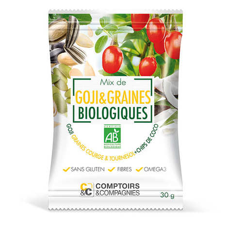 Comptoirs et Compagnies - Mix de goji et graines + chips de coco bio