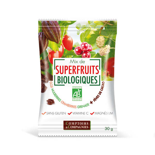 Mix de superfruits bio + éclats de fèves de cacao